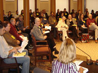 Picture of community members attending a city council meeting